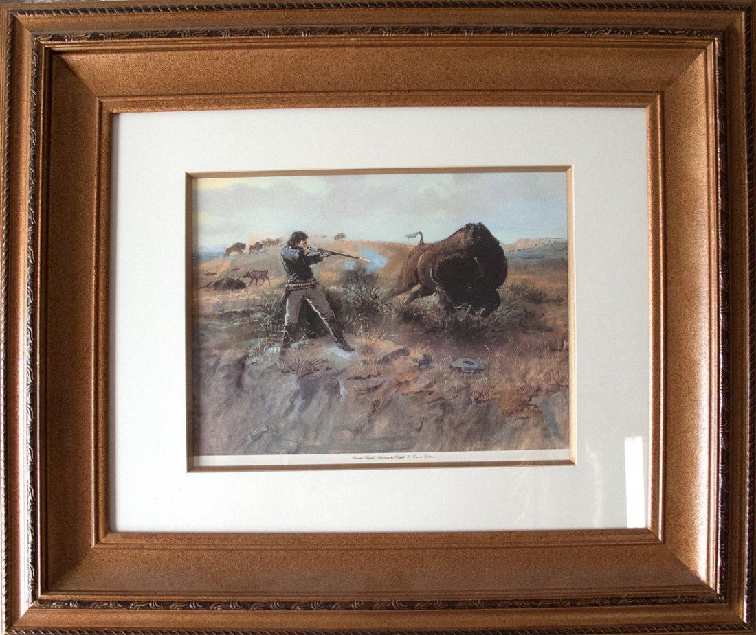 Charles Russell print: Shooting the Buffalo