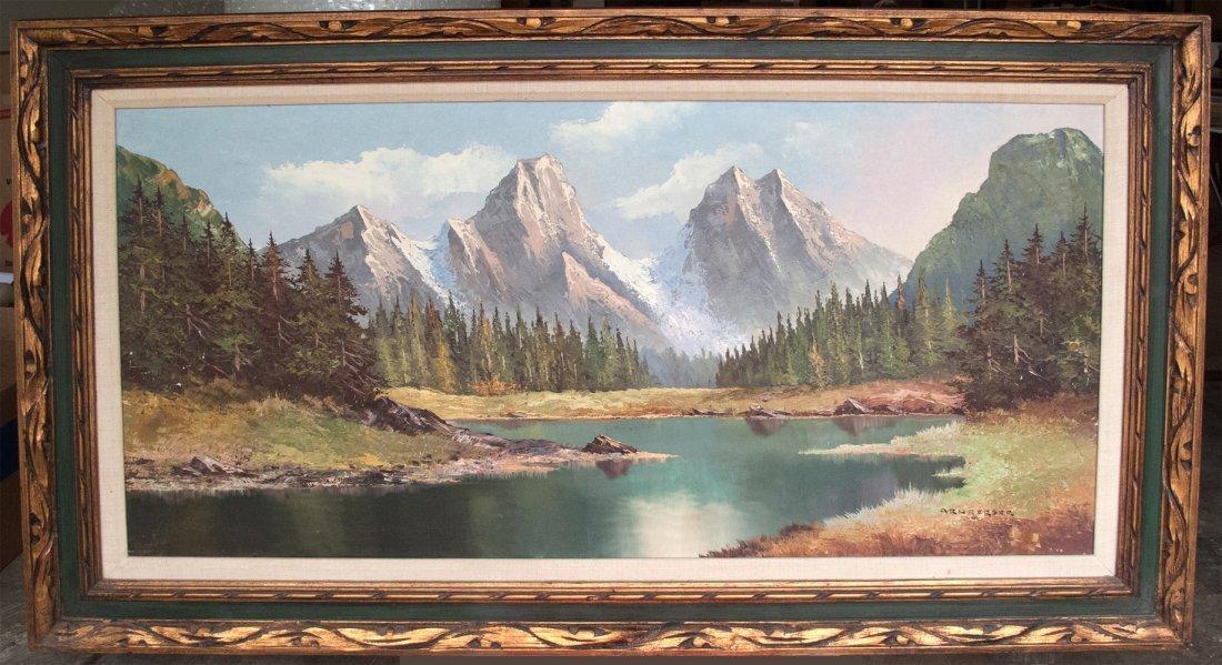 Arnberger: Swiss Alps Oil Painting