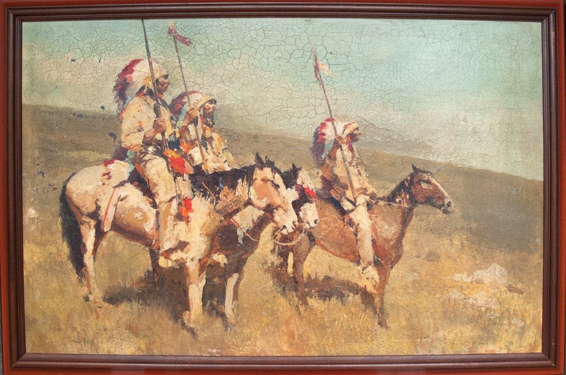James Reynolds: Native American oil painting