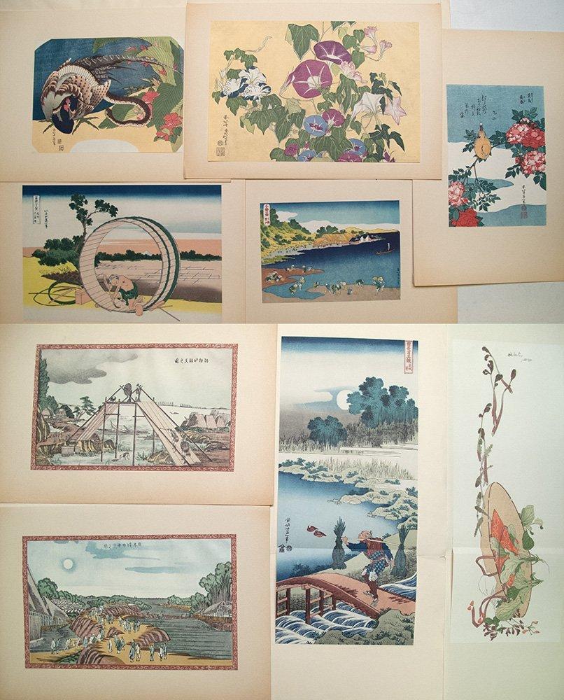 Eight 1963 prints from Katsushika Hokusai (1760-1849.)