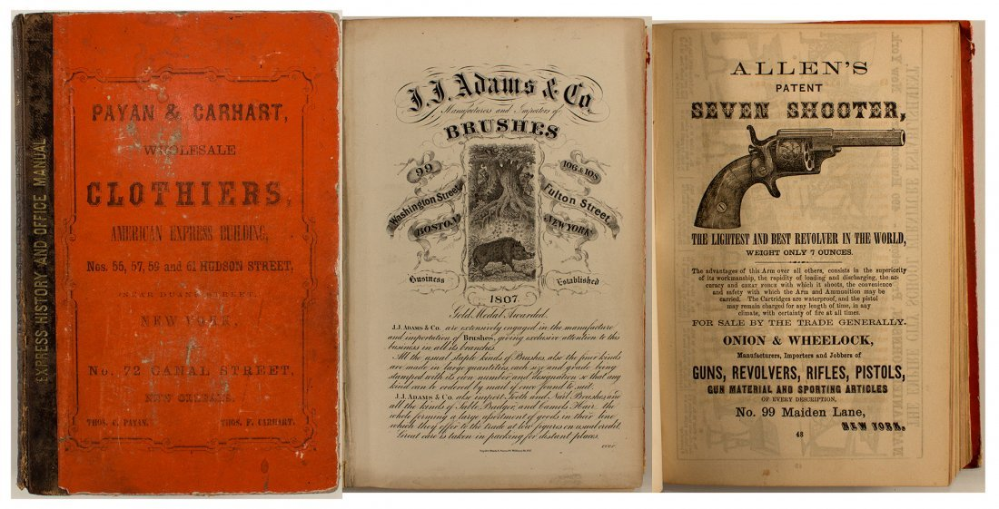 Stimson's Express History and Office Manual, 1860