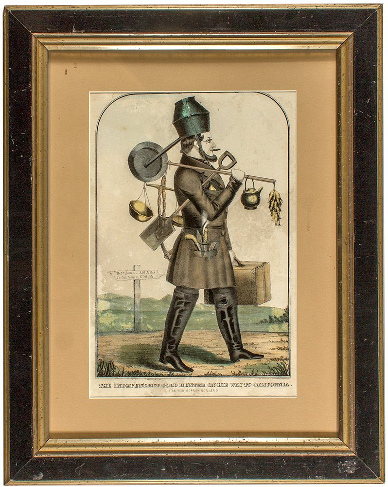 """Independent Gold Hunter"" Lithograph c.1850"