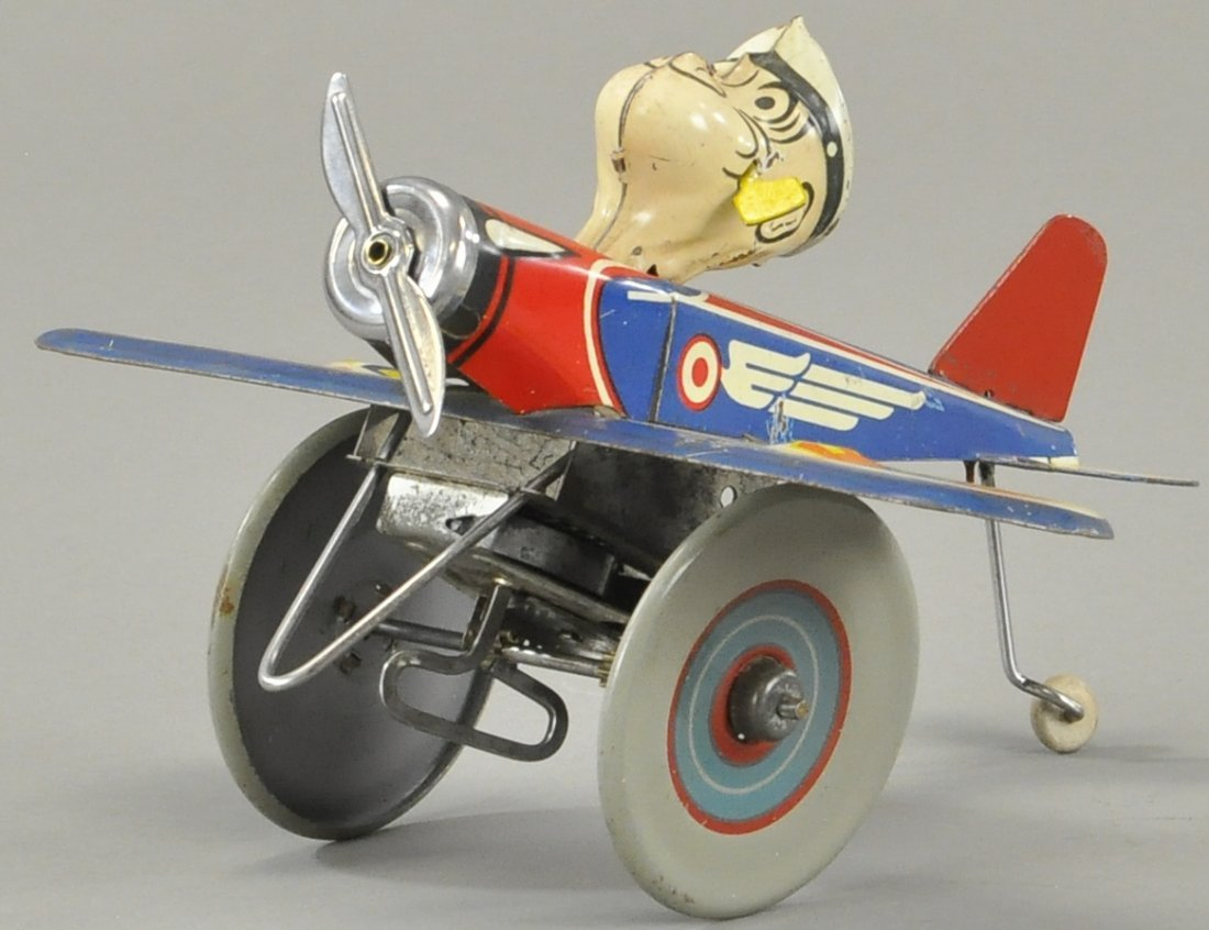 MARX POPEYE THE PILOT AIRPLANE