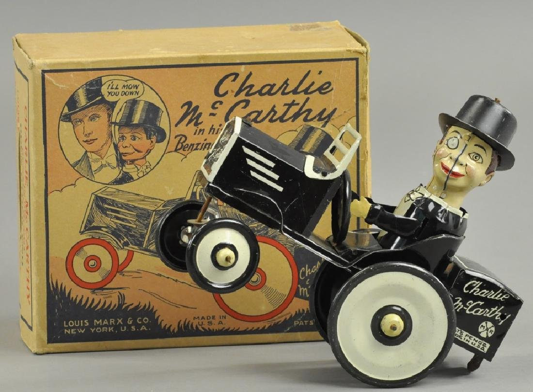 BOXED MARX CHARLIE MCCARTHY BENZINE MOBILE