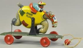 SUNSHINE RIDING SPARK PLUG PULL TOY