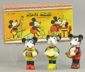 BOXED MICKEY MOUSE AND FRIENDS BISQUE BAND JAPAN