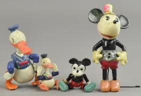 CELLULOID LG & SMALL MICKEY MOUSE AND DONALD