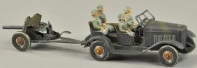 GERMAN ARMY STAFF CAR AND TRAILER