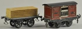 TWO CARETTE FREIGHT CARS