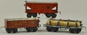 LOT OF THREE MARKLIN HAND PAINTED FREIGHT CARS