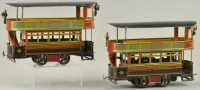 BING GBN DOUBLE DECKER TROLLEY AND TRAILER
