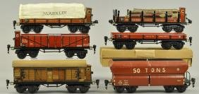 SIX MARKLIN EIGHT WHEEL FREIGHT CAR SET