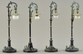 LOT OF FOUR ELECTRIC LAMP POSTS
