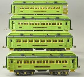 FOUR LIONEL STEPHEN GIRARD PASSENGER CARS