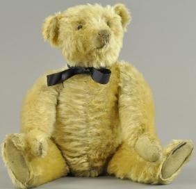STEIFF BLANK BUTTON TEDDY BEAR