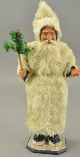 LARGE FATHER CHRISTMAS CANDY CONTAINER