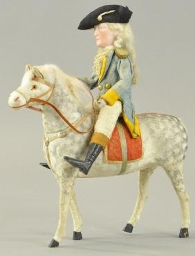 GEORGE WASHINGTON ON HORSE CANDY CONTAINER