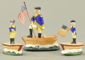 THREE GEORGE WASHINGTON FIGURES