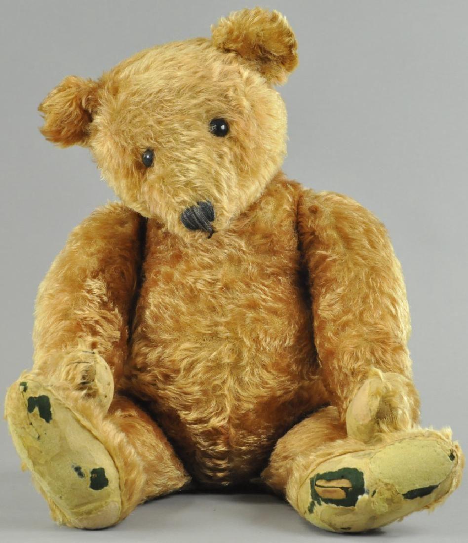LARGE EARLY APRICOT STEIFF TEDDY BEAR