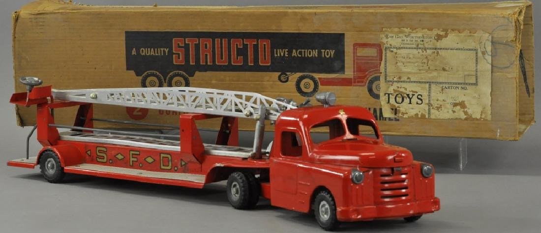 BOXED STRUCTO FIRE LADDER TRUCK