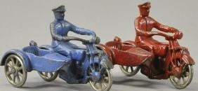 PAIR OF KILGORE MOTORCYCLES WITH SIDIECARS