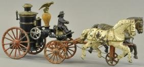 IVES PUMPER WITH TROTTING HORSES