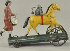 BERGMANN HORSE AND DRUMMER BELL TOY