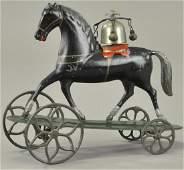 ALTHOF BERGMANN HORSE ON PLATFORM BELL TOY