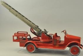 BUDDY L BRASS CRANK AERIAL LADDER