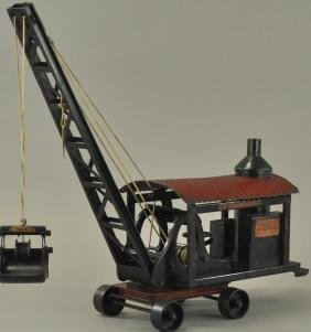 BUDDY L STEAM DREDGER WITH CLAMSHELL