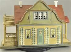 GOTTSCHALK RED ROOF DOLLHOUSE WITH GARDEN
