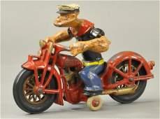 LARGE HUBLEY POPEYE MOTORCYCLIST