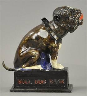 BULL DOG MECHANICAL BANK