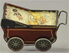 BABY CARRIAGE BISCUIT TIN