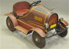 SIDWAY TOPLIFF RED CADILLAC PEDAL CAR