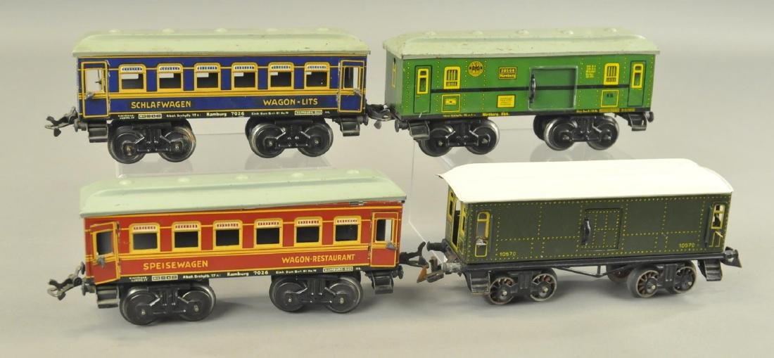 FOUR KARL BUB PASSENGER CARS