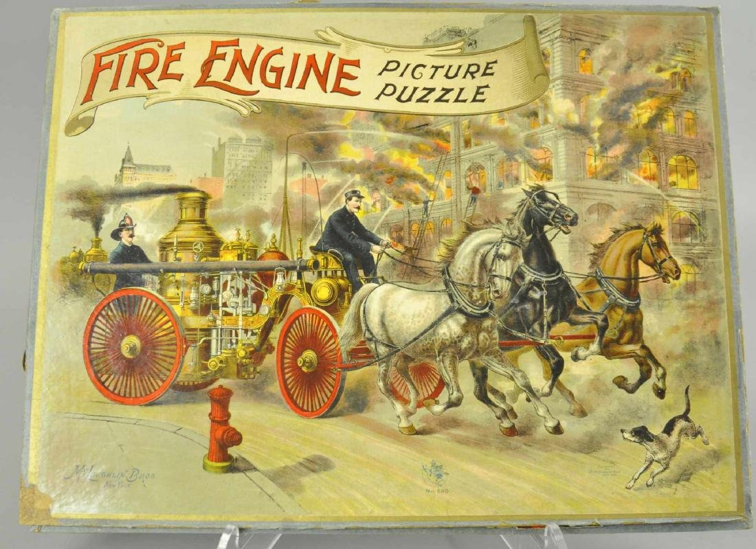 MCLOUGHLIN BROS. FIRE ENGINE PUZZLE