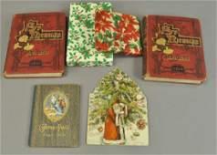FOUR CHRISTMAS BOOKS & TWO BOXES