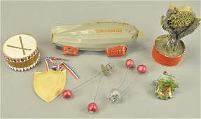 SEVERAL EARLY CHRISTMAS TREE ORNAMENTS