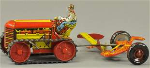 MARX TRACTOR AND MOWER FARM SET