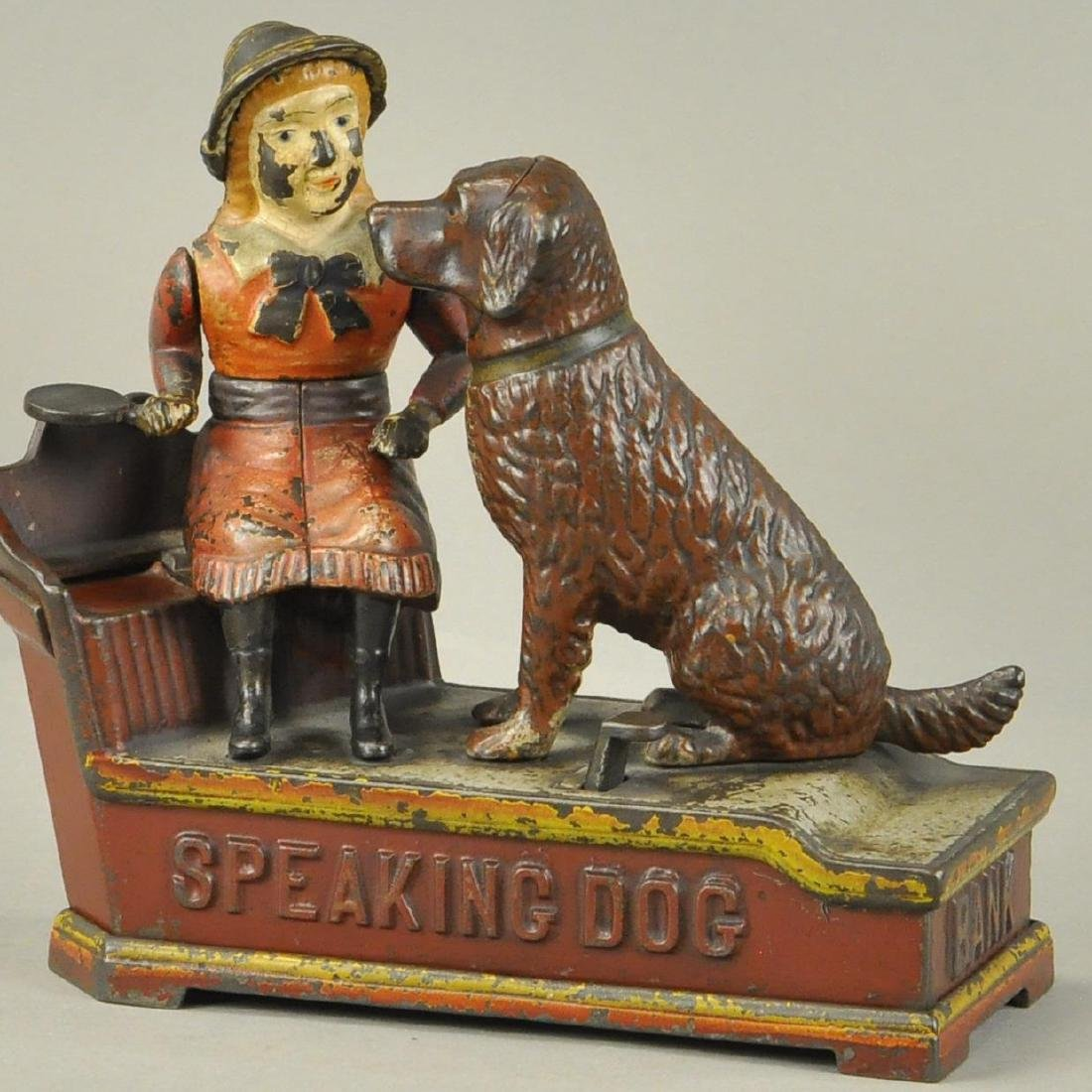 SPEAKING DOG MECHANICAL BANK - SHEPPARD HARDWARE
