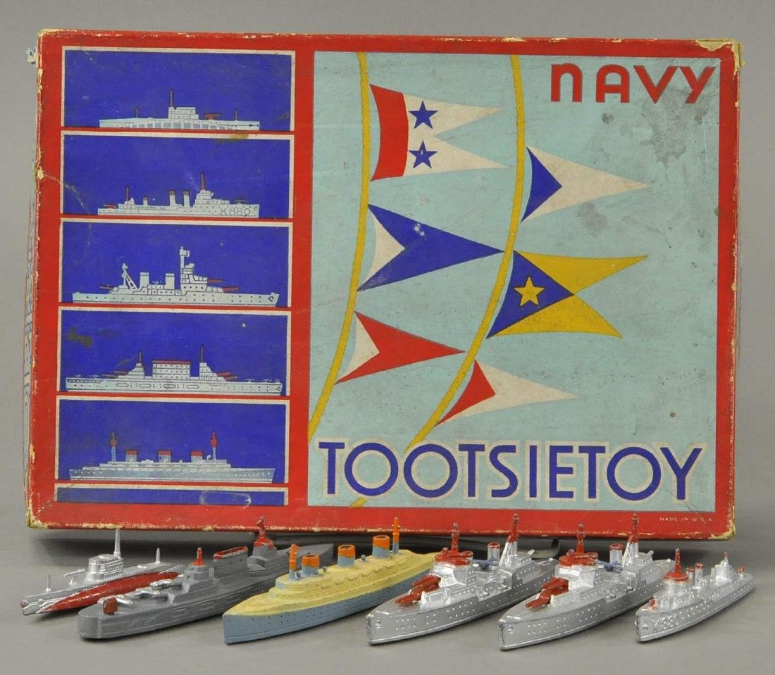 BOXED TOOTSIETOY FLOATING NAVY