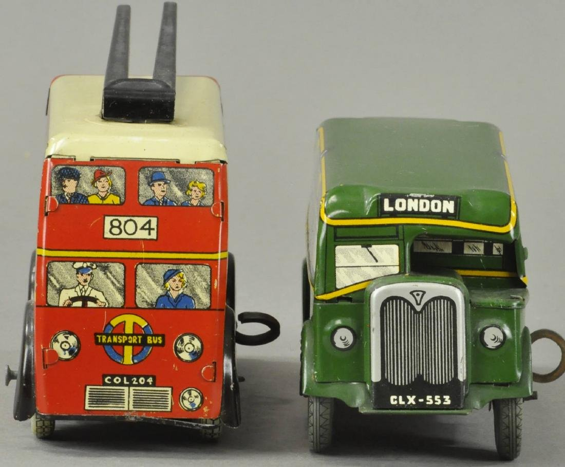 TWO ENGLISH WIND-UP AUTOBUSES - 2