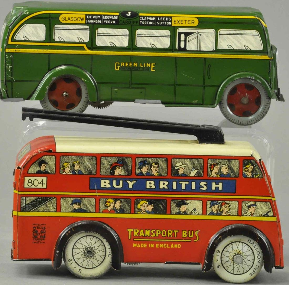 TWO ENGLISH WIND-UP AUTOBUSES - 3