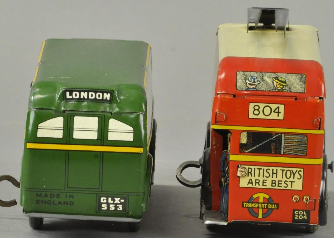 TWO ENGLISH WIND-UP AUTOBUSES - 4