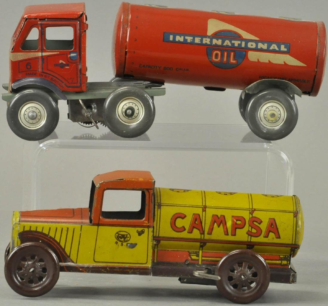PAIR OF GASOLINE PETROL TANK TRUCKS
