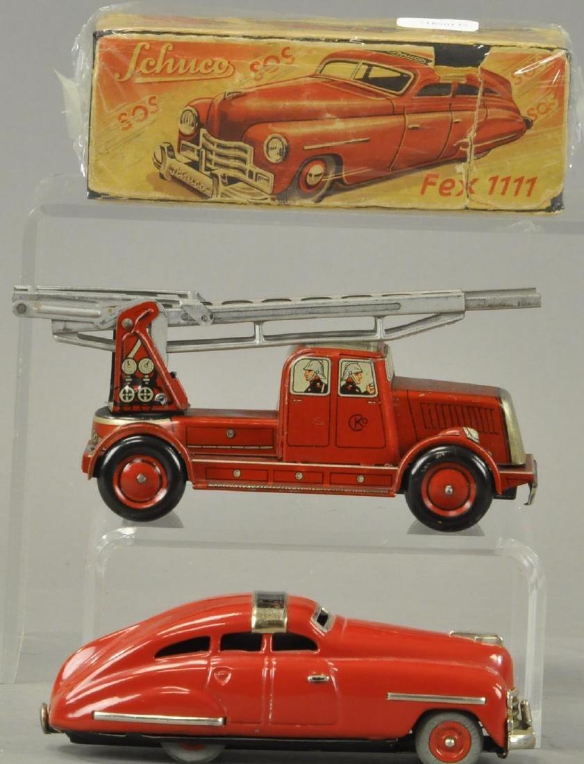 TWO GERMAN AUTOS - FIRE TRUCK/SCHUCO