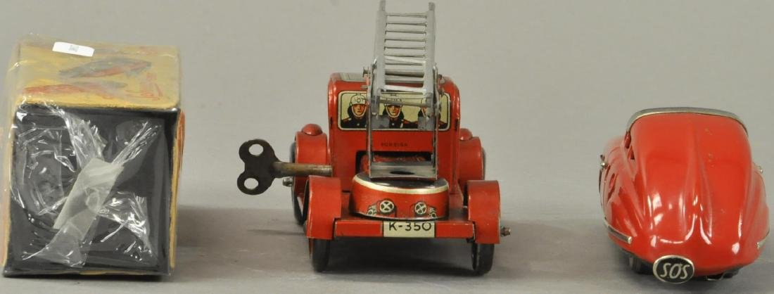TWO GERMAN AUTOS - FIRE TRUCK/SCHUCO - 2