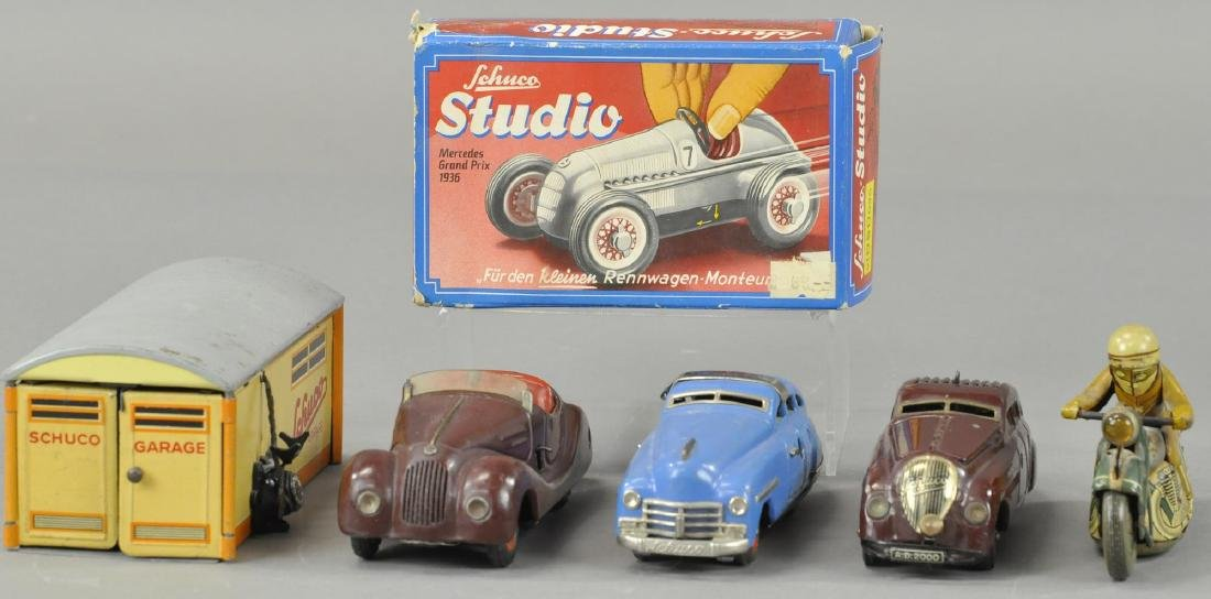 GROUP OF FOUR SCHUCCO AUTO TOYS