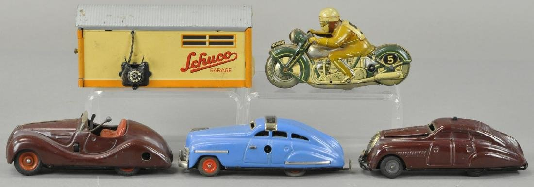 GROUP OF FOUR SCHUCCO AUTO TOYS - 2